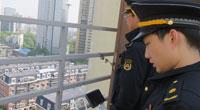城管用无人机航拍取证楼顶违建