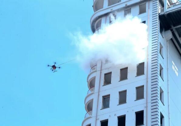 无人机消防应用综合演练在上海市消防总队奉贤培训基地正式举行